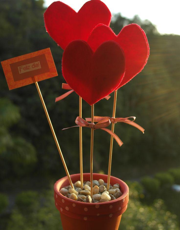 Corazones de tela. San Valentín!