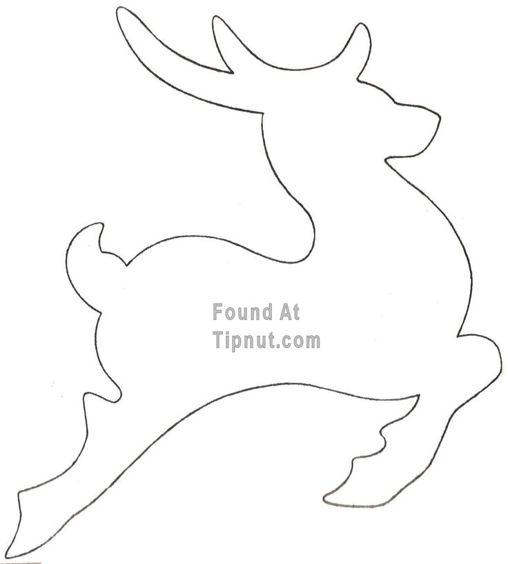 outlines of a reindeer | How To Make Cookie Cutters + More : TipNut.com