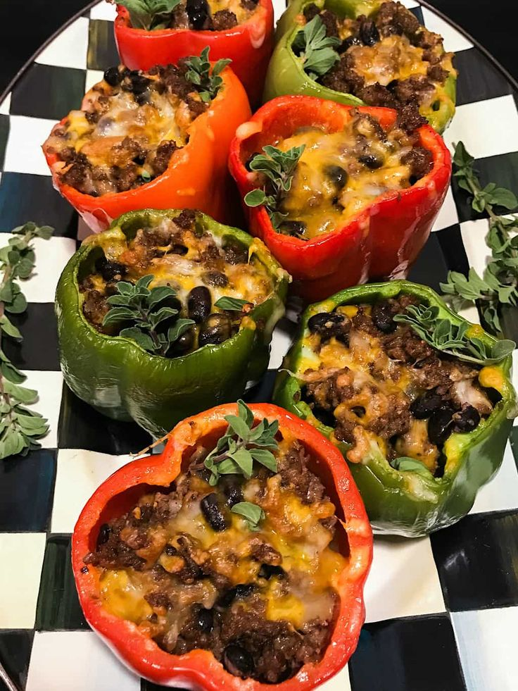 Holiday Gatherings with Mexican Sausage-Stuffed Peppers