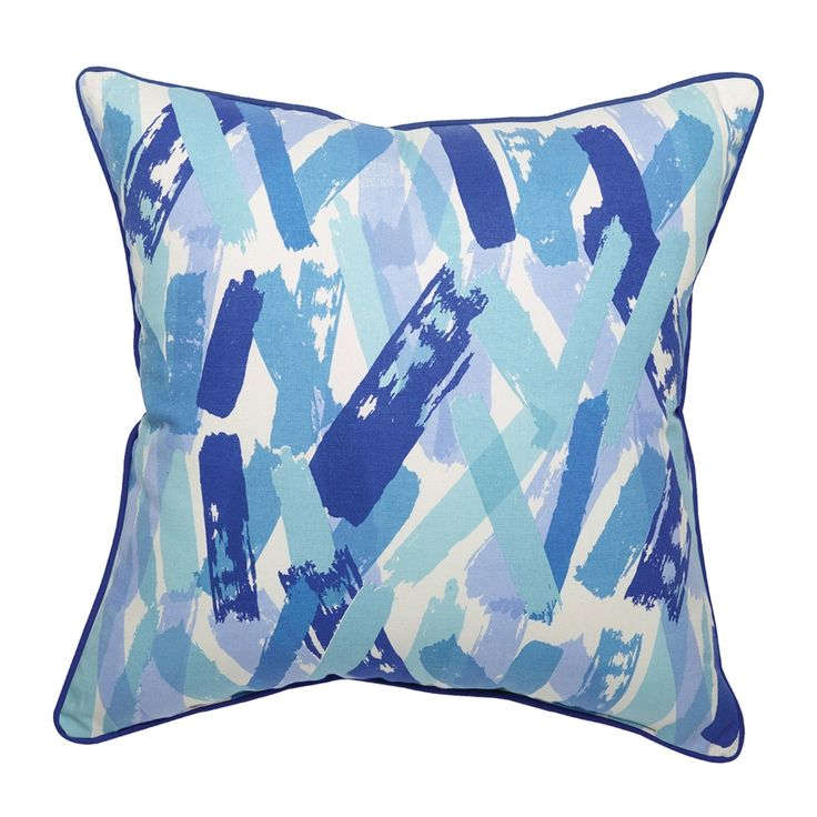 Shop Allen + Roth Blue Crosshatch Outdoor Throw Pillow At Loweu0027s Canada.  Find Our Selection