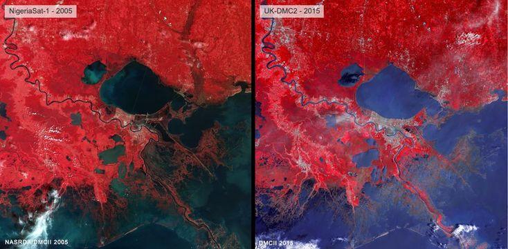 satellite photos of hurricane katrina   Hurricane Katrina: UK satellite revisits New Orleans 10 years on - BBC ...