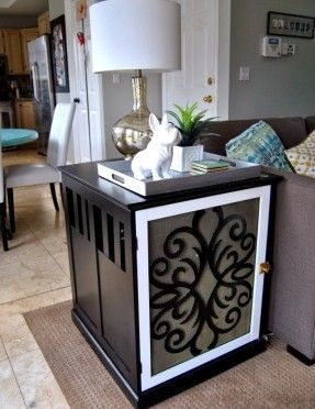 dog kennel built into cabinet - Google Search