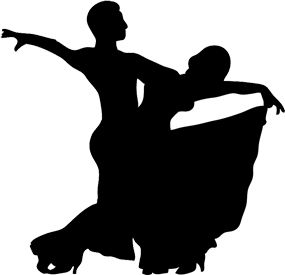Silhouette of Fancy Girls | Dancer Silhouette, Dancing Silhouette