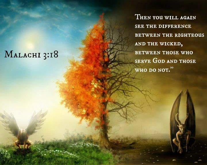 Malachi 3:18 Then You Will Again See The Difference