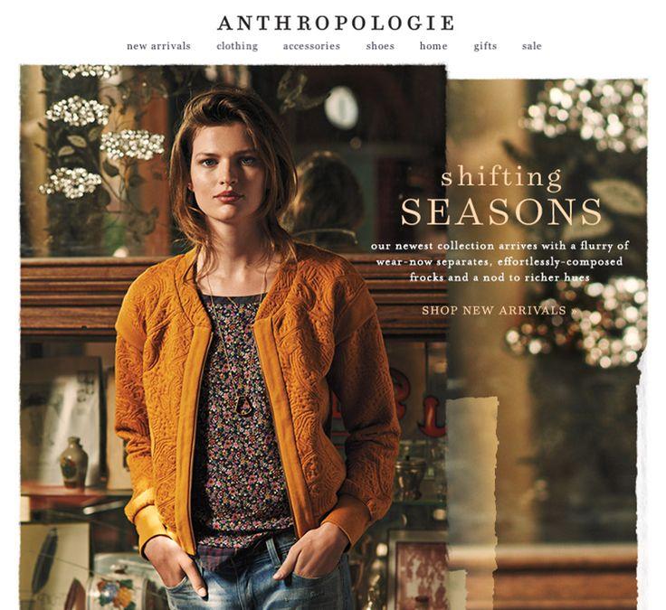 """SUB: """"August's just-arrived collection"""" Bell'esempio per il cambio di stagione."""