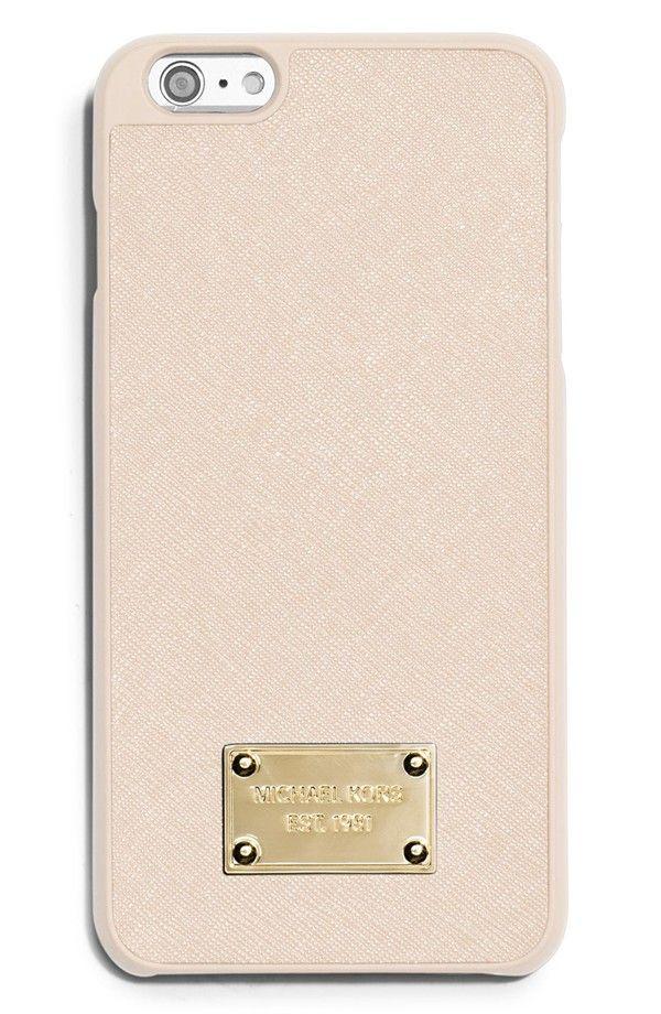best website 6f491 d4326 Michael Kors Saffiano Leather iPhone 6 Plus & 6s Plus Case | Ecru ...