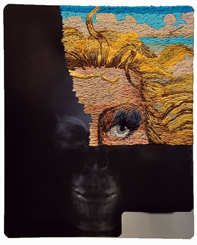 Matthew Cox, embroidery on x-ray