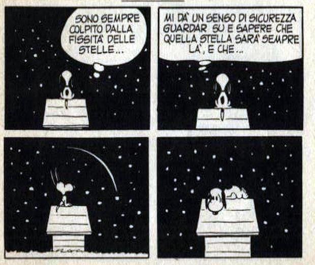 Snoopy e la stella cadente