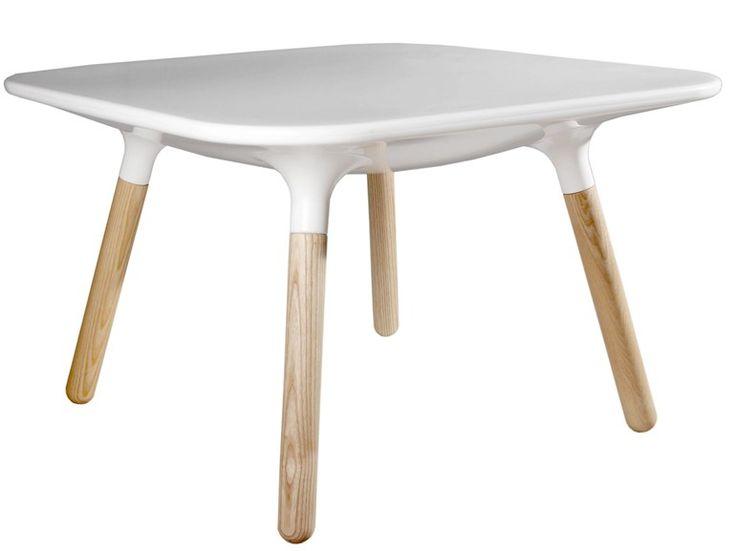 Niedriger Couchtisch Aus Polyethylen Und Holz Kollektion Marguerite By  BRANEX DESIGN | Design Eric Berthès