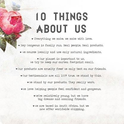 10 thing about Hey Gorgeous Siincar