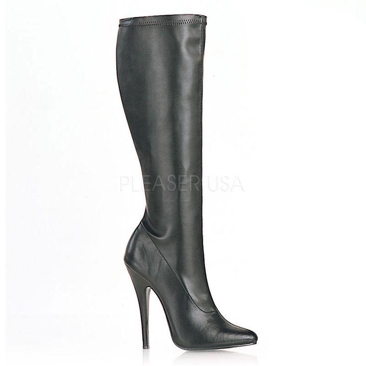 Name: Domina-2000 Non Shiny Pu Knee High Boots Price: $61.95