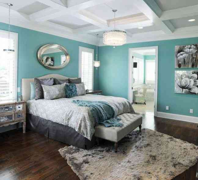 Nice Gray And Teal Bedroom Ideas