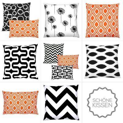 Die besten 25+ Orange kissen Ideen auf Pinterest braunes Sofa - wohnzimmer schwarz weis orange