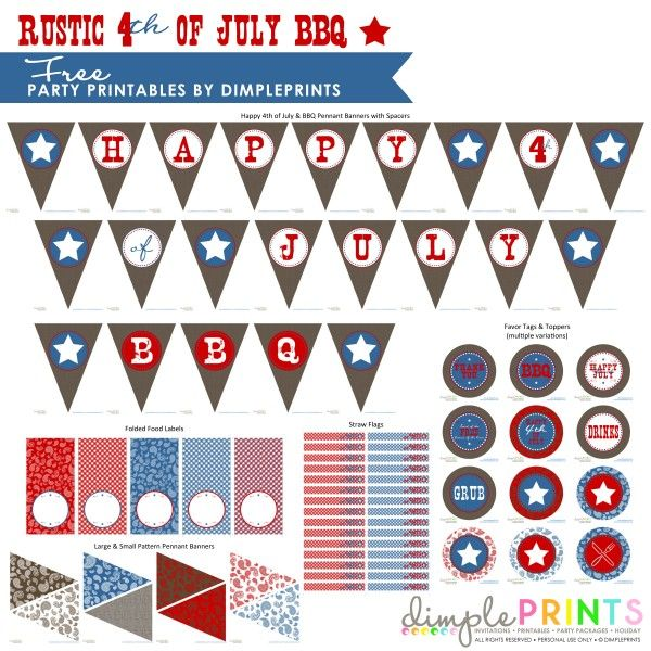 4th of July Free Printables!