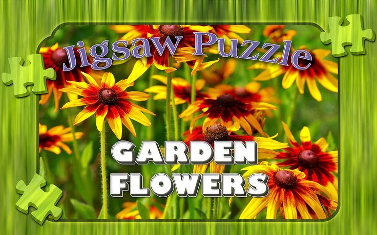 Garden flowers puzzle chest