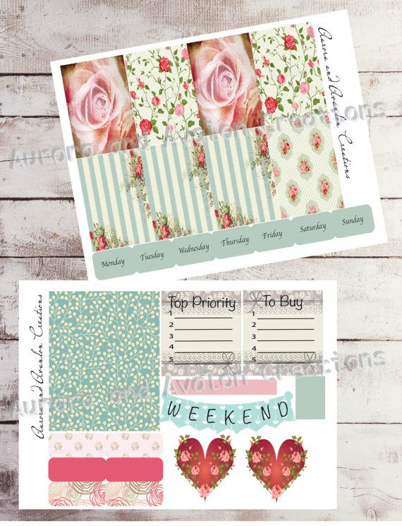 Valentines kit for Happy Planner and Erin Condren