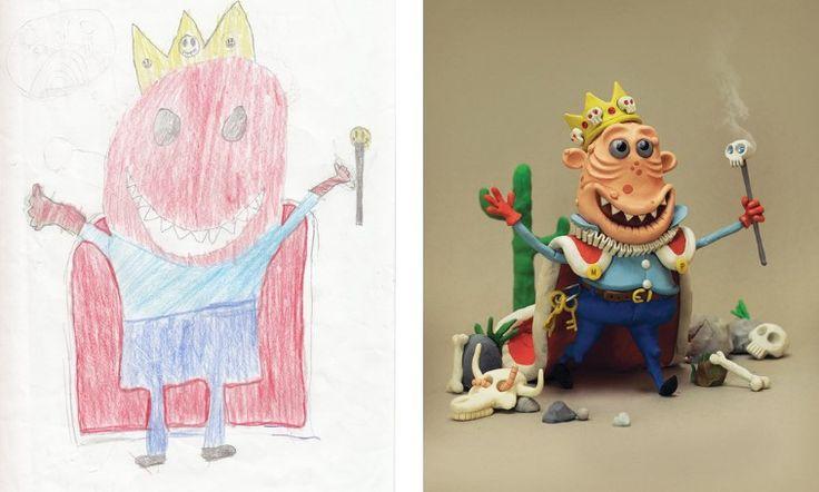 Проект монстр: художники со всего мира воссоздают детские рисунки