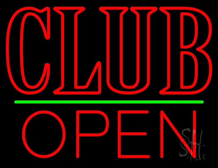 Block Club Open Neon Sign 24 Tall x 31 Wide x 3 Deep, is 100% Handcrafted with Real Glass Tube Neon Sign. !!! Made in USA !!!  Colors on the sign are Red and Green. Block Club Open Neon Sign is high impact, eye catching, real glass tube neon sign. This characteristic glow can attract customers like nothing else, virtually burning your identity into the minds of potential and future customers. Block Club Open Neon Sign can be left on 24 hours a day, seven days a week, 365 days a year...