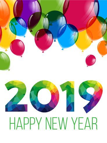 Colorful New Year Balloon Card 2019 Lift Their Spirits To The Sky
