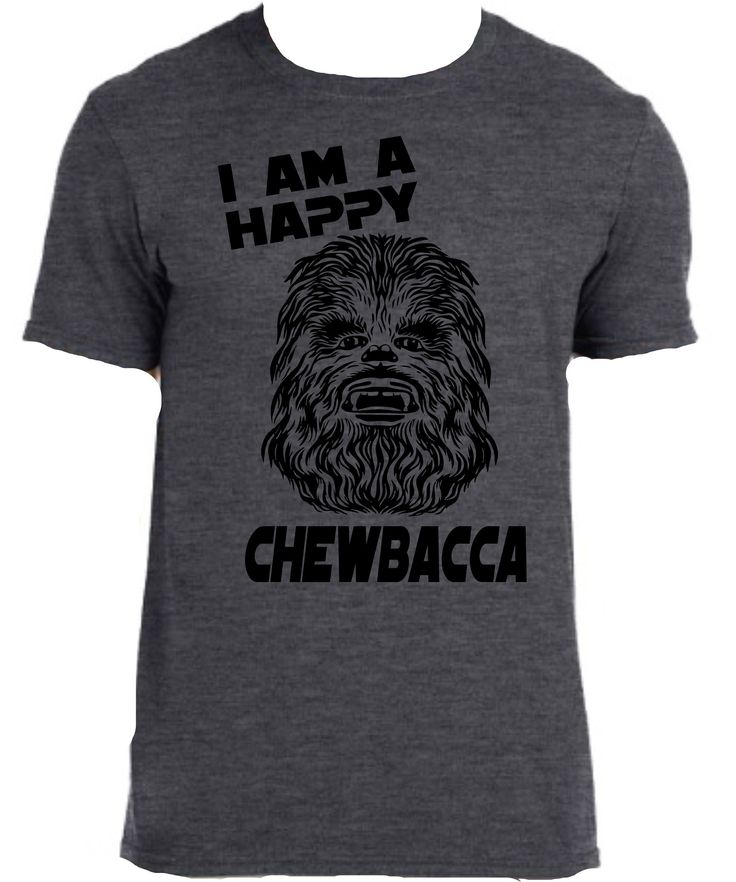 Get this fan inspired Chewbacca Tee. All sizes from youth to adult These are a dark heather 100% cotton tee.