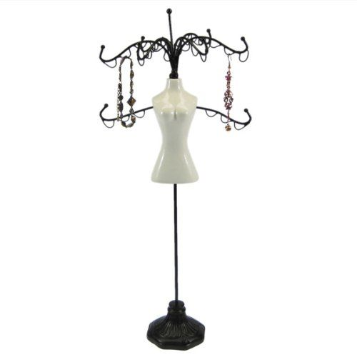 DIY Kit Mannequin Jewelry Stand Organizer Display Clothless 13″H