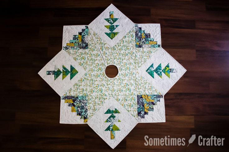 Quilted Christmas Tree Skirt Pattern – $8 This modern take on the traditional Christmas Tree Skirt will have all of your family and friends oohing and ahhing over your decked out tree. Easily…