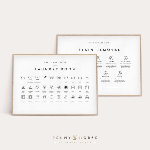 Laundry Room 2 Print Set Printable Art Laundry Wall Decor Etsy Laundry Symbols Laundry Room Art Laundry Care