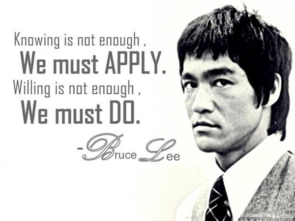 Great Bruce Lee words