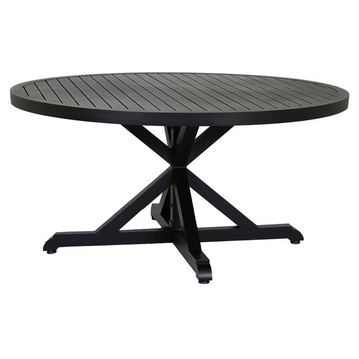 Outdoor Sunset West Monterey 60 In. Aluminum Patio Dining Table   3001 T60