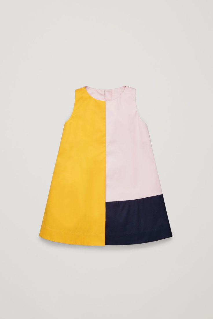 COS image 1 of Colour-block dress in Rose Pink