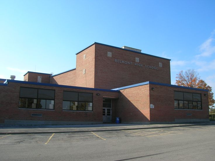 The north side of Belmont HS. We used to stand just outside those doors and smoke our cigarettes. Teachers too!
