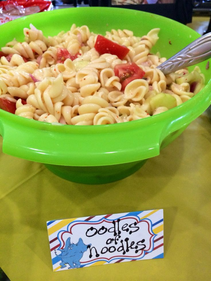 Oodles Of Noodles Dr Seuss Rhyme Time Party Food Ideas