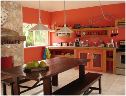 25 best ideas about coral kitchen on pinterest color - Good colors for living room and kitchen ...