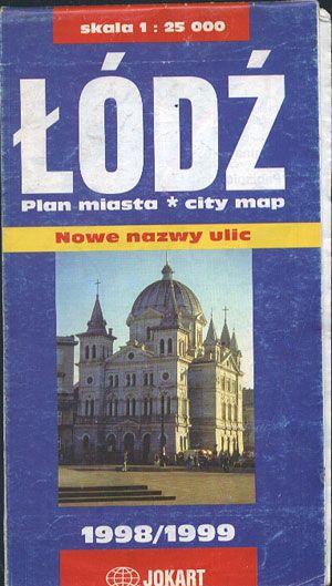 Łódź. Plan miasta 1:25 000, Jokart, b. r. wyd., http://www.antykwariat.nepo.pl/lodz-plan-miasta-125-000-p-13603.html