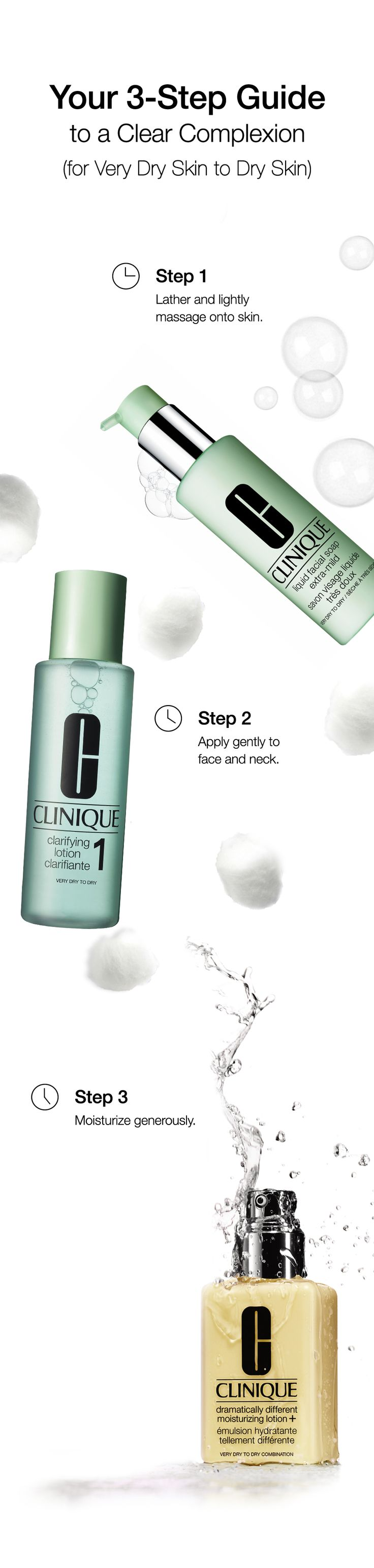 Follow these 3 easy steps to cleanse and replenish skin that feels tight and uncomfortable all over.