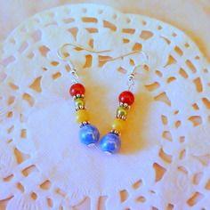 Bijoux fantaisie : boucles d'oreille aux couleurs de la camargue@laboutiquedenath