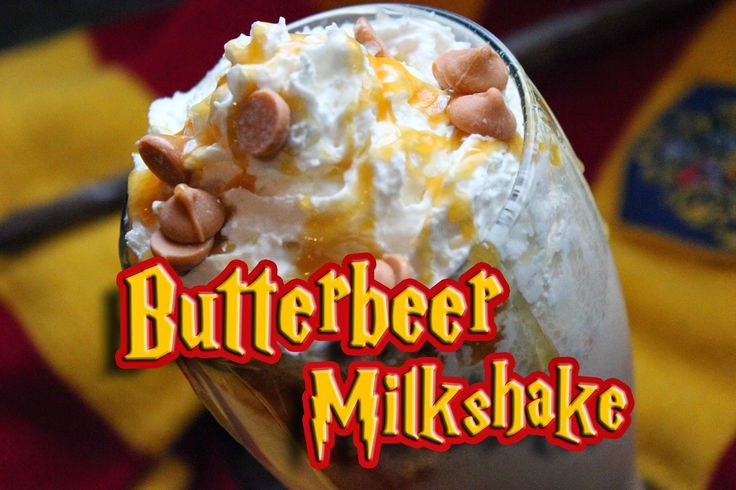 The Disney Diner: Harry Potter-Inspired Butterbeer Milkshake Recipe & Video Tutorial (Vanilla Ice Cream, Cream Soda, Sutterscotch Syrup, Whipped Cream & Butterscotch Chips.)