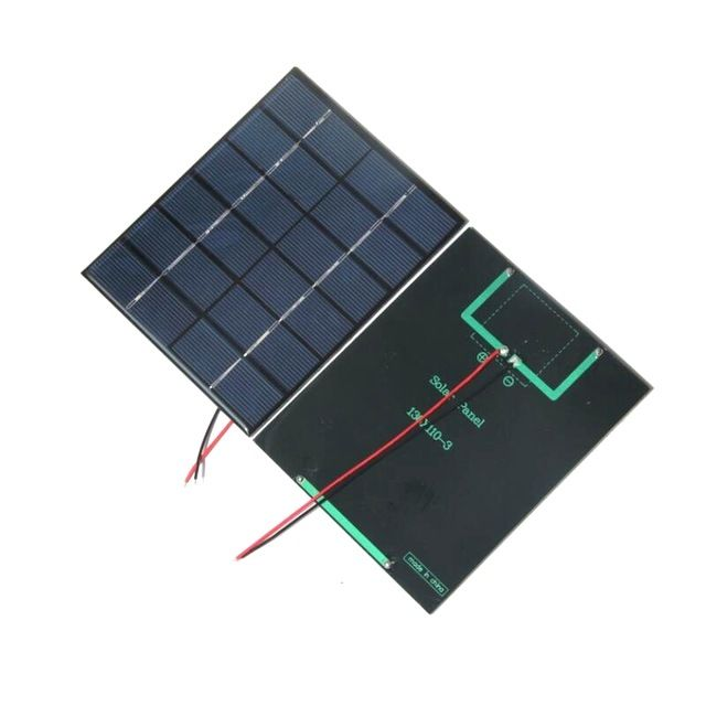 Buheshui 2w 6vsolar Panels Cable Solar Power Battery Charger Solar Cell Diy Solar System For 3 7v Edu Diy Solar System Solar Panels Solar Power Battery Charger