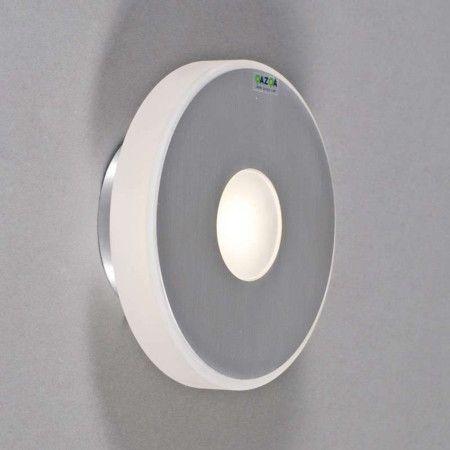Ideal Wandleuchte Hana rund Aluminium LED Badezimmerleuchte Wandleuchte Bad Wandleuchte grau wei