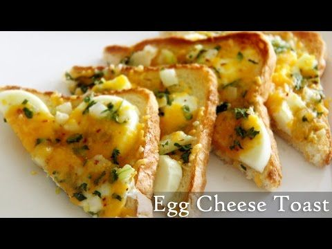 Egg Cheese Toast Recipe | Quick Toast Recipes- Indian Easy Egg Recipes By Shilpi - YouTube