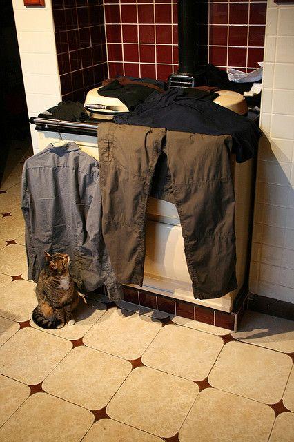 AGA - drying the wet clothes Tip van het Agahuis.nl: Niet voor de thermometer.....