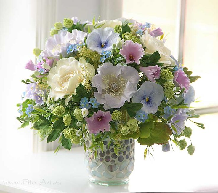 Букет Летних цветов из Сlaycraft by deco. Цветы из полимерной глины. Екатерина Звержанская.