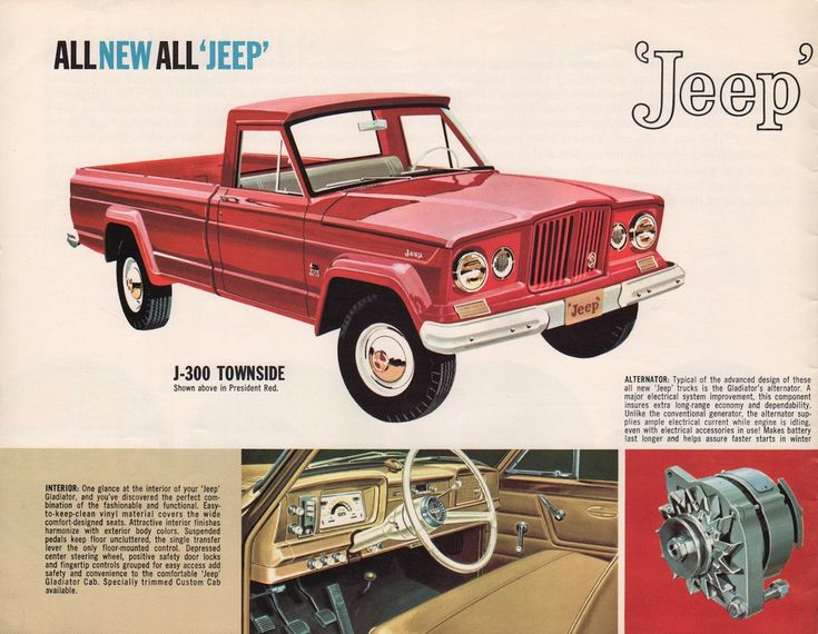 Willys 1963 Gladiator Jeep Sales Brochure