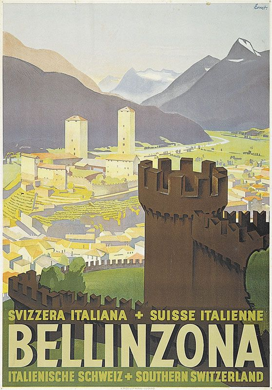 Bellinzona. Ticino. Svizzera. Ernst Otto.