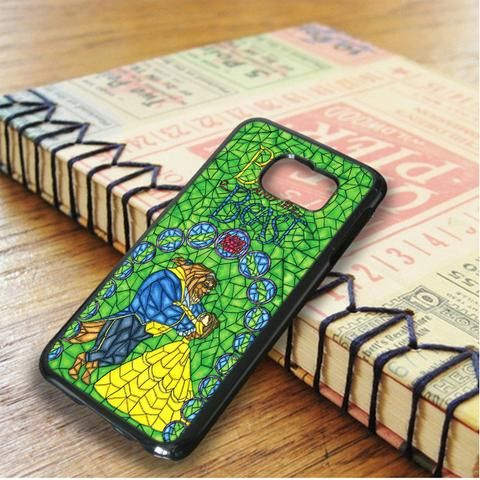 Beauty And The Beast Green Stained Glasses Samsung Galaxy S6 Edge Plus Case