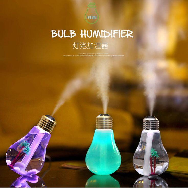 2016 Newest 400ML USB DC 5V 7 Colors Night LIght Air Ultrasonic Humidifier Air Diffuser Mist Maker Fogger For Bedroom