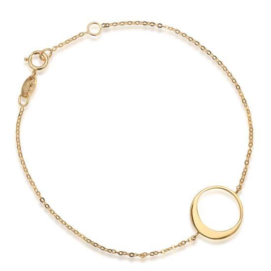 Złota Bransoletka Eclipse, 299 PLN www.YES.pl/53833-eclipse-zlota-bransoletka-ZW-Z-Z12-N19-DA10249 #jewellery #gold #BizuteriaYES #shoponline #accesories #pretty #style