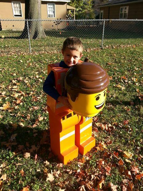 Emmet lego figure costume from LEGO MOVIE