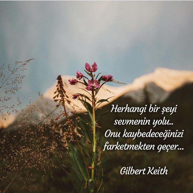 Herhangi bir şeyi sevmenin yolu.. Onu kaybedeceğinizi farketmekten geçer... -Gilbert Keith