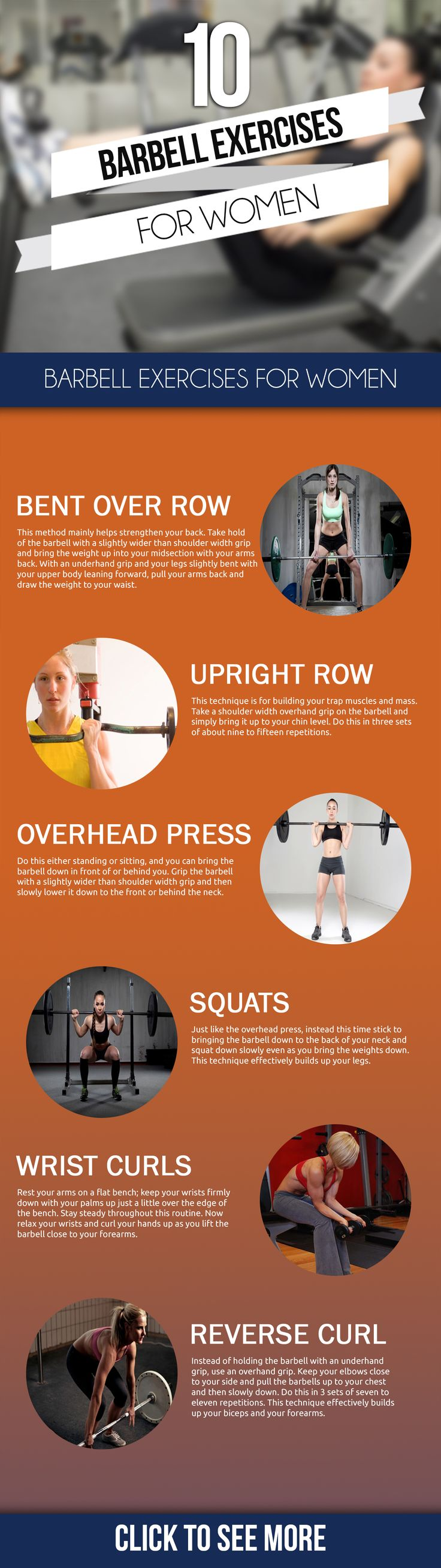 Are you looking to build strength and stamina? Then its time to take to barbell exercises for women! Here is a list of the 10 best!